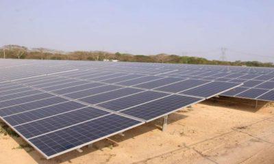 Esta es la granja solar ubicada en el municipio de Santa Rosa de Lima en Bolívar. Foto: El Tiempo.