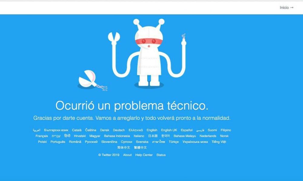 Caída de Twitter.