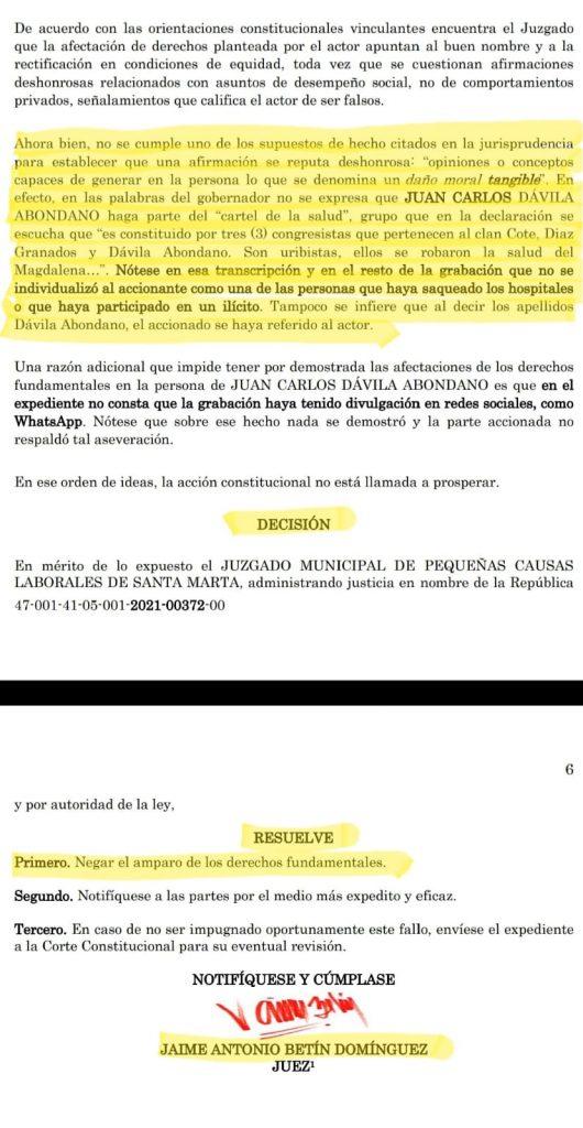 Juez falló a favor de Caicedo en tutela interpuesta por el grupo Daabon - Noticias de Colombia